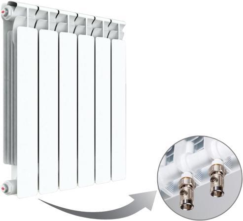 цена на Радиатор RIFAR Monolit 500 х 6 сек НП лев (MVL) 50мм