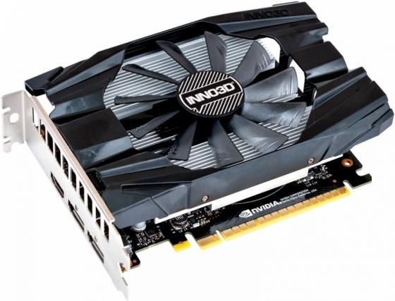 Видеокарта 4Gb <PCI-E> Inno3D GeForce GTX 1650 Compact N16501-04D5-1510VA19 <GTX1650, GDDR5, 128bit, HDCP, 2xDVI, HDMI, DP, Retail> 100% new geforce 8600gt 1gb 128bit ddr2 video card hdmi pci e16x graphics dropship free shipping with tracking number