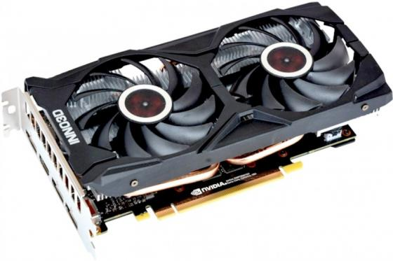 Купить Видеокарта 6Gb <PCI-E> Inno3D GeForce GTX 1660 Twin X2 N16602-06D5-1521VA15 <GTX1660, GDDR5, 192bit, HDCP, HDMI, 3xDP, Retail>