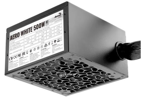 Блок питания ATX 500 Вт Aerocool AERO WHITE 500 4710562753905