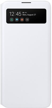 Чехол (флип-кейс) Samsung для Samsung Galaxy A71 S View Wallet Cover белый (EF-EA715PWEGRU) samsung чехол флип кейс для galaxy s7 clear view cover черный ef zg930cbegru
