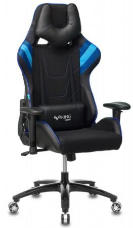 Кресло игровое Бюрократ VIKING 4 AERO BLUE две подушки черный/синий искусст.кожа/ткань автокресло nania sena easyfix 15 36кг bonjour blue синий 949163