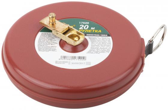 FIT IT Рулетка, фибергласовая лента, красный пластиковый корпус 20 м [17520]