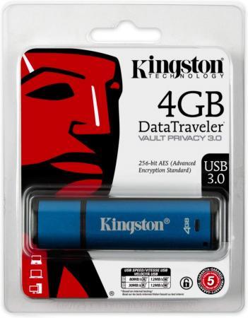 Фото - Флешка 4Gb Kingston DataTraveler Vault Privacy USB 3.0 синий DTVP30DM/4GB privacy