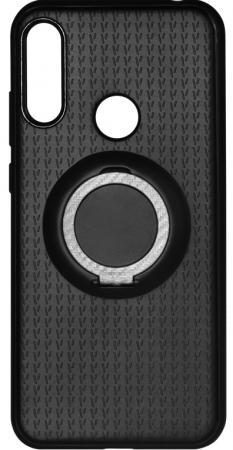 Чехол с кольцом-держателем для Huawei Y6 (2019) DF hwBlackRing-02 (black) аксессуар чехол для huawei y6 2018 smarterra shellcase black schy618bk