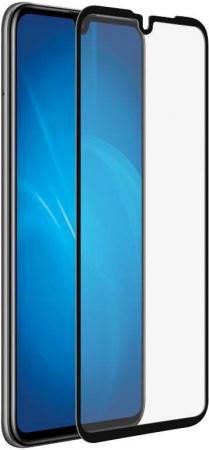 Купить Закаленное стекло с цветной рамкой (fullscreen) для Huawei P30 DF hwColor-96 (black)