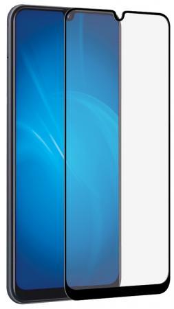 Купить Закаленное стекло с цветной рамкой (fullscreen) для Samsung Galaxy A20/A30/A50/A30S/A50S DF sColor-69 (black)