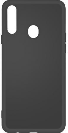 Чехол-накладка для Samsung Galaxy A20s DF sOriginal-05 Black клип-кейс, силикон, микрофибра чехол клип кейс df soriginal 16 для samsung galaxy m51 черный [df soriginal 16 black ]