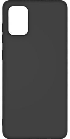 Чехол для смартфона Samsung Galaxy A71 DF sOriginal-08 Black клип-кейс, силикон чехол клип кейс df soriginal 16 для samsung galaxy m51 черный [df soriginal 16 black ]