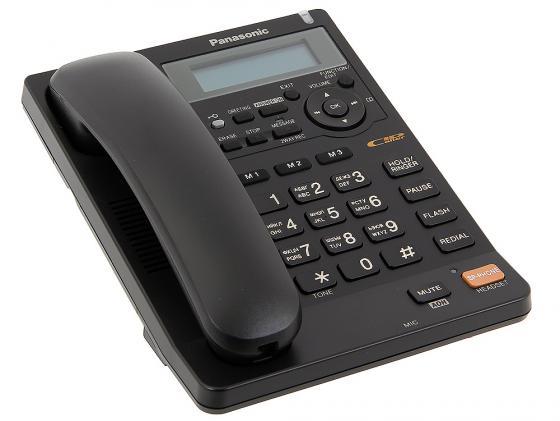 Телефон Panasonic KX-TS2570RUB чёрный, АОН, автоответчик, спикерфон