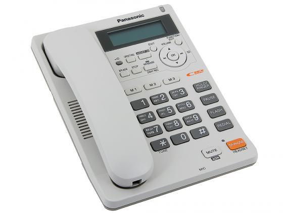 Телефон Panasonic KX-TS2570RUW белый, АОН, автоответчик, спикерфон цена