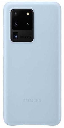 Чехол (клип-кейс) Samsung для Samsung Galaxy S20 Ultra Leather Cover голубой (EF-VG988LLEGRU) чехол клип кейс gresso smart slim для samsung galaxy s20 ultra красный [gr17sms197]