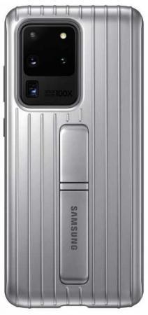 Купить Чехол (клип-кейс) Samsung для Samsung Galaxy S20 Ultra Protective Standing Cover серебристый (EF-RG988CSEGRU)