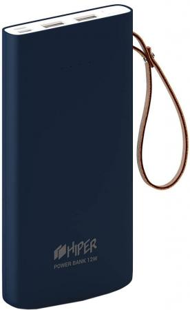 Мобильный аккумулятор Hiper Travel10K Li-Pol 10000mAh 2.4A+2.4A синий 2xUSB мобильный аккумулятор hiper travel10k li pol 10000mah 2 4a 2 4a синий 2xusb