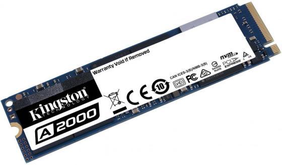 Твердотельный накопитель SSD M.2 250 Gb Kingston A2000 Read 2000Mb/s Write 1100Mb/s 3D NAND TLC SA2000M8/250G твердотельный накопитель ssd 2 5 250 gb sandisk ultra sdssdh3 250g g25 read 550mb s write 525mb s ultra 3d