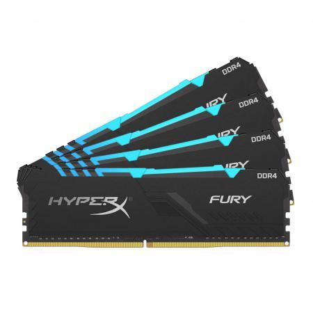 Kingston 64GB 3600MHz DDR4 CL17 DIMM (Kit of 4) HyperX FURY RGB стоимость