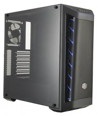 Cooler Master MasterBox MB511, 2xUSB3.0, 1x120 Fan, w/o PSU, Black, Blue Trim, Mesh Front Panel, ATX цена и фото