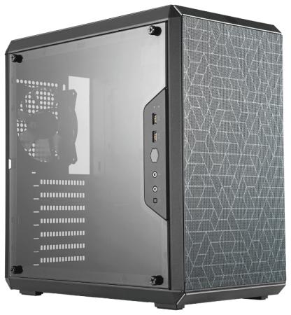 Cooler Master MasterBox Q500L, USB3.0x2, 1x120Fan, Black, ATX, w/o PSU cooler master masterbox mb511 2xusb3 0 1x120 fan w o psu black red trim mesh front panel atx