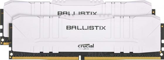 Crucial 16GB Kit (8GBx2) DDR4 3200MT/s CL16 Unbuffered DIMM 288 pin Ballistix White crucial 16gb kit 8gbx2 ddr4 3600mt s cl16 unbuffered dimm 288 pin ballistix black