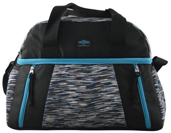 цена Сумка-термос Thermos Studio Fitness duffle bag черный/голубой (538710) онлайн в 2017 году