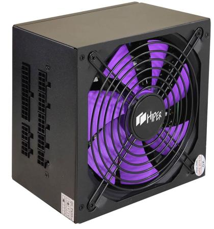 PSU HIPER HPB-800FM (ATX 2.31, 800W, ActivePFC, 140mm fan, Full-modular, Black) BOX