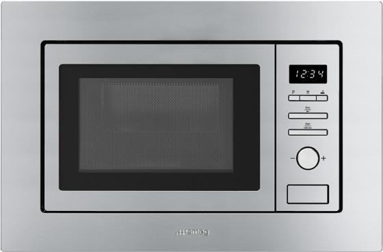 Встраиваемая микроволновая печь Smeg FMI017X 800 Вт нержавеющая сталь