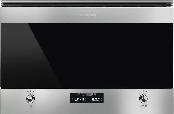 Встраиваемая микроволновая печь Smeg Classica 850 Вт нержавеющая сталь MP322X1 встраиваемая микроволновая печь zanussi zbm 17542 xa