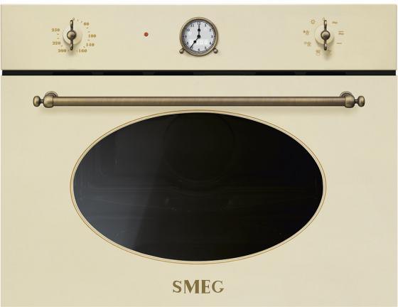 Встраиваемая микроволновая печь Smeg Coloniale 1000 Вт кремовый SF4800MPO