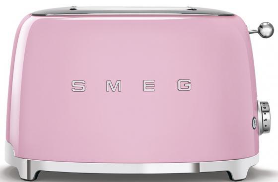 Тостеры SMEG/ Стиль 50-х г.г, 2 ломтика, корпус из нержавеющей стали, 6 уровней поджаривания, розовый