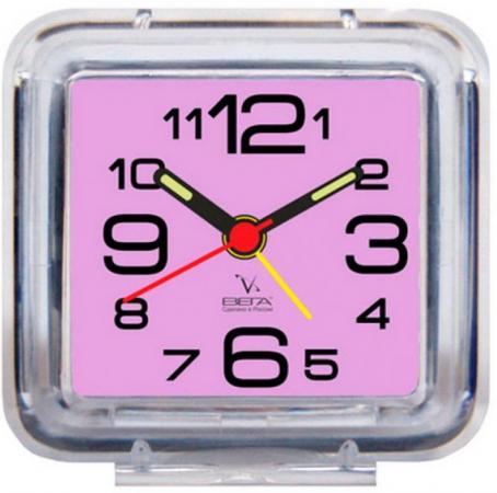 Будильник ВЕГА Б2-058 (фиолетовый) цена и фото
