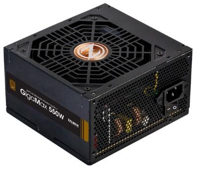 Блок питания Zalman GigaMax ZM550-GVII <550W, (20+4+4+4) pin, 2x(6+2) pin, 5xSATA, 3xMolex, FDD, 12 см, кабель питания,