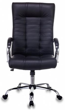 Кресло руководителя Бюрократ KB-10SL/B/LEATHER черный кожа крестовина хром кресло руководителя college h 9582l 1k экокожа крестовина хром подлокотники кожа хром черный