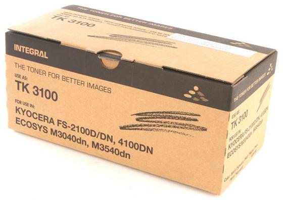 Фото - INTEGRAL TK-3100 Картридж для Kyocera FS-2100D/2100DN с чипом, 12 500 к. 12100115(C) картридж nv print tk 3100 для для kyocera fs 2100d 2100dn 12500стр черный
