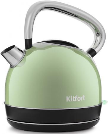 Чайник электрический Kitfort КТ-696-3 1.7л. 2150Вт салатовый (корпус: нержавеющая сталь) чайник электрический zimber 1 7 л 2200w салатовый