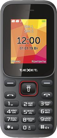 teXet TM-124 черный-красный Мобильный телефон мобильный телефон texet tm d430 черный