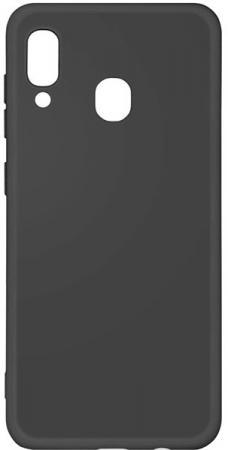 Чехол-накладка для Samsung Galaxy A20/A30 DF sOriginal-02 Black клип-кейс, силикон, микрофибра чехол клип кейс df soriginal 16 для samsung galaxy m51 черный [df soriginal 16 black ]