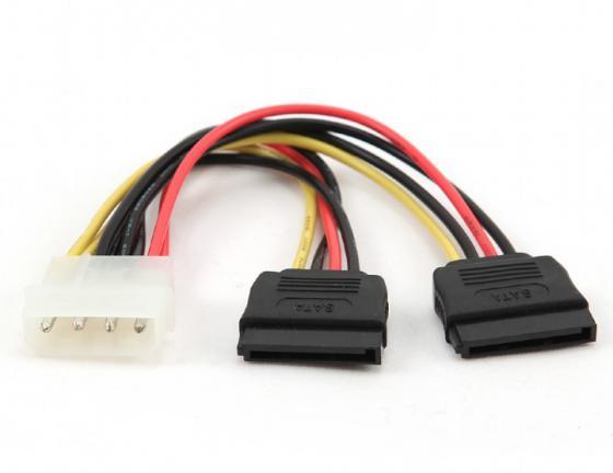 Фото - Bion Кабель питания Serial ATA - 2xMolex, 15 см. [BXP-SATA-PSY-15CM] кабель питания ningbo tl ata molex 8980 sata