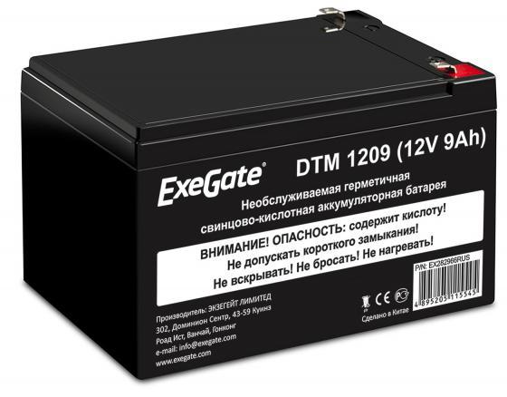 Exegate EX282966RUS Аккумуляторная батарея ExeGate DTM 1209/EXS1290 (12V 9Ah 1234W), клеммы F2