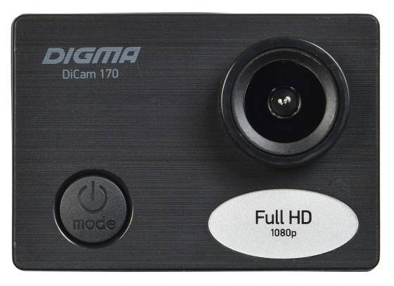 Фото - Экшн-камера Digma DiCam 170 черный цифровая фоторамка digma pf 922 9 черный [pf922bk]