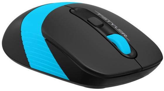 Фото - Мышь A4 Fstyler FG10S черный/синий оптическая (2000dpi) silent беспроводная USB (4but) мышь a4tech fstyler fg10 черный оранжевый оптическая 2000dpi беспроводная usb 4but