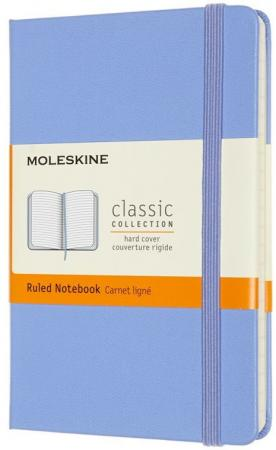 Фото - Блокнот Moleskine CLASSIC QP012B42 Pocket 90x140мм 192стр. нелинованный твердая обложка голубая гортензия блокнот moleskine classic mm710p14 pocket 90x140мм 192стр линейка твердая обложка коричневый