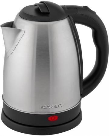 Фото - Чайник электрический Scarlett SC-EK21S29 1800 Вт серебристый чёрный 1.8 л нержавеющая сталь чайник scarlett sc ek21s29 сталь
