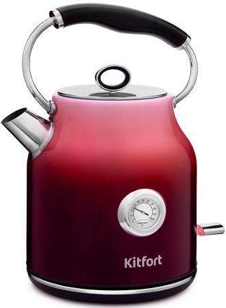 Фото - Чайник электрический KITFORT КТ-679-1 2200 Вт красный 1.7 л нержавеющая сталь чайник электрический kitfort кт 675 1 2200 вт белый 1 7 л нержавеющая сталь