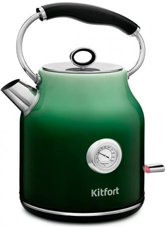 Фото - Чайник электрический KITFORT КТ-679-2 2200 Вт зелёный 1.7 л нержавеющая сталь чайник электрический kitfort кт 675 1 2200 вт белый 1 7 л нержавеющая сталь