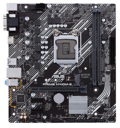 Материнская плата ASUS PRIME H410M-E Socket 1200 H410 2xDDR4 1xPCI-E 16x 2xPCI-E 1x 4 mATX Retail