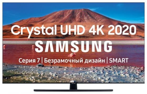 Фото - Телевизор LED 43 Samsung UE43TU7500UXRU серый черный 3840x2160 100 Гц Wi-Fi Smart TV USB RJ-45 Bluetooth телевизор 55 samsung ue55tu7100uxru черный 3840x2160 100 гц smart tv wi fi rj 45