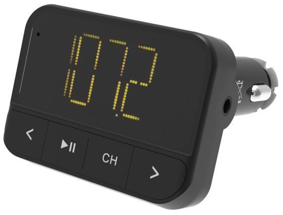 Автомобильный FM-модулятор Ritmix FMT-B200 черный SD BT USB (80000765)