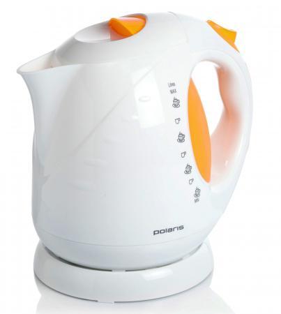 Чайник Polaris PWK 2013С 2000 Вт белый жёлтый 2 л пластик чайник polaris pwk 1754 clwr 2200 вт 1 7 л пластик белый синий