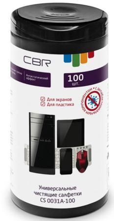 Фото - Чистящие салфетки CBR CS 0031A-100 100 шт cbr набор для ухода за техникой cbr cs 0061 200 мл