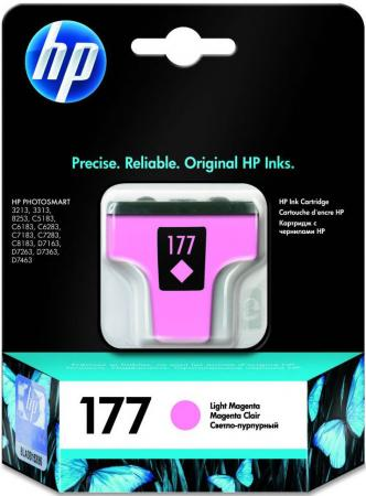 Картридж HP C8775HE №177 для Photosmart 8253 3313 d7363 светло-пурпурный 2pcs alzenit oem new for hp 1010 1012 1015 1020 3015 3020 3030 charge roller q2612a printer parts
